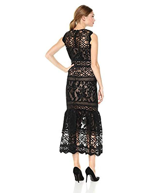 530206686dc Lyst - ML Monique Lhuillier Fitted Lace Cocktail Dress in Black