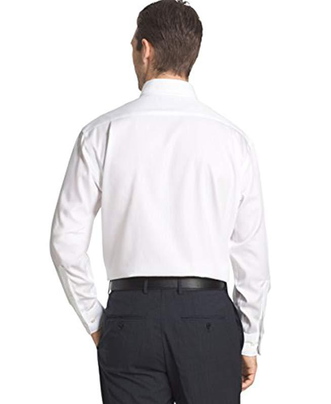 2106f4fb7 Lyst - Tommy Hilfiger Men's Big & Tall Classic-fit Non-iron Solid Dress  Shirt in White for Men - Save 38.46153846153846%