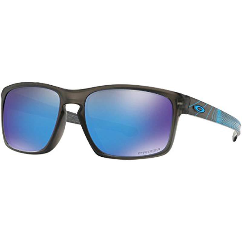 971c94ae56 Oakley. Men s Gray Sliver (a) Non-polarized Iridium Rectangular Sunglasses  ...