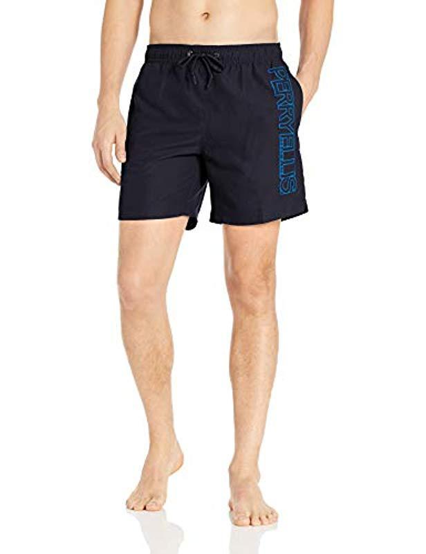 ecadfbb0f4def Lyst - Perry Ellis Printed Water Resistant Perry Logo Swim Shorts in ...