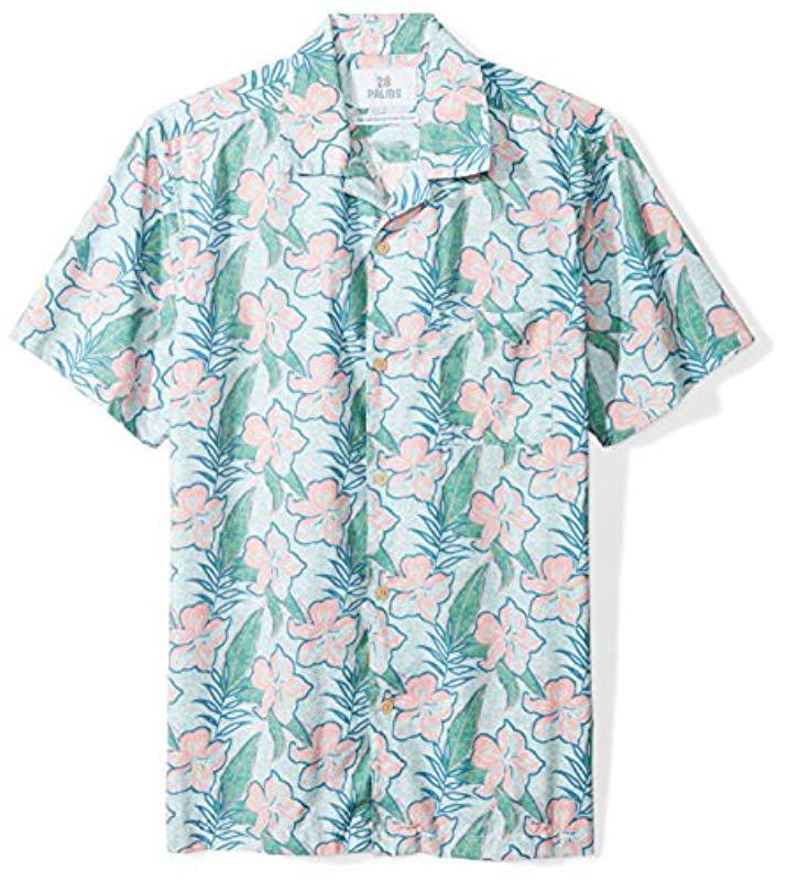 d0b074cd Lyst - 28 Palms Standard-fit 100% Cotton Tropical Hawaiian Shirt in ...