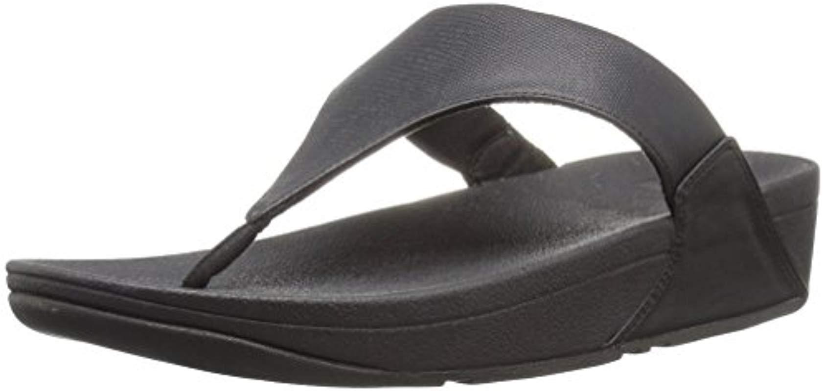 6296cf98c8f8b Lyst - Fitflop Lulu Lizard-print Flip Flops Sandal in Black