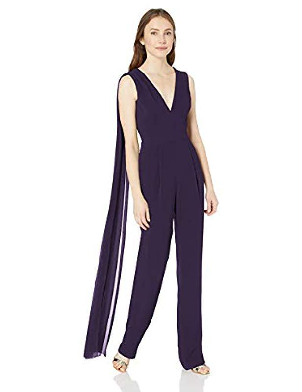 41feb8006f3 Lyst - Dress the Population Robbie Crepe Sleeveless Plunging ...