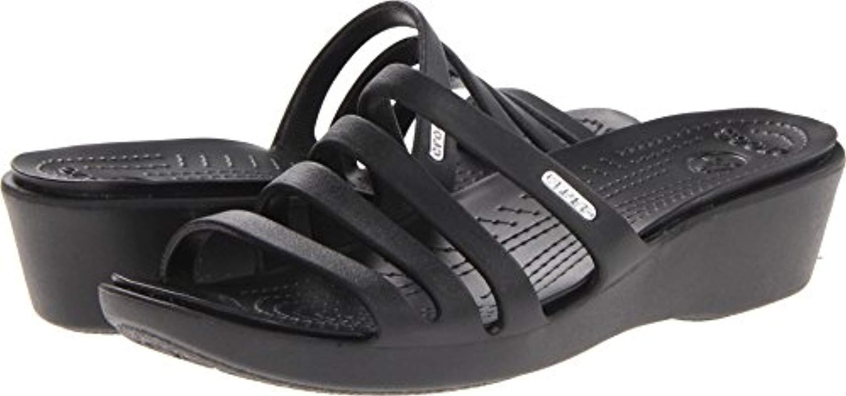 090db87c7f4 Lyst - Crocs™ Rhonda Wedge Pump in Black - Save 13%