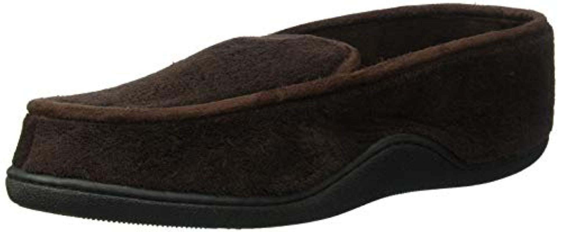 Lyst - Isotoner Microterry Slip On Slippers in Brown for Men a4697b063