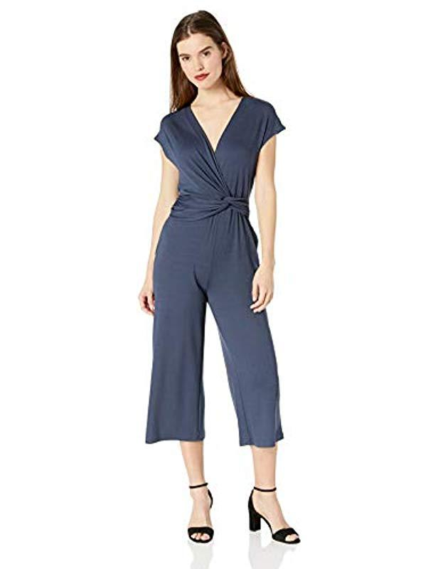 41575873b8b7 Lyst - Ella Moss Addison Twist Drape Jumpsuit in Blue