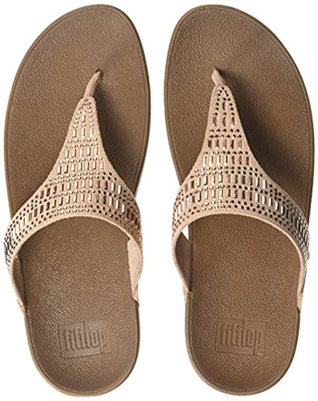 0be2f7e6d Lyst - Fitflop Incastone Toe-thong Sandals Flip-flop in Natural