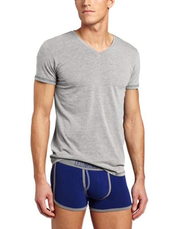 Lyst - DIESEL Michael V-neck T-shirt in Gray for Men