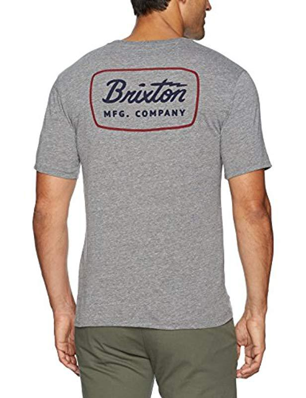 27615a3cedf54a Lyst - Brixton Jolt Short Sleeve Premium Tee in Gray for Men - Save 52%