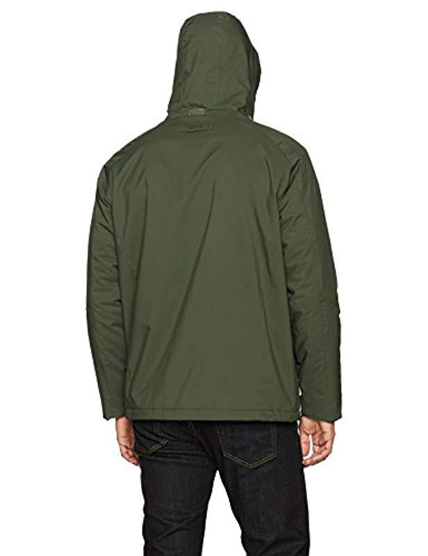 2c627a42d511f Lyst - Izod Water Resistant Midweight Jacket With Polar Fleece Lining in  Green for Men - Save 22%