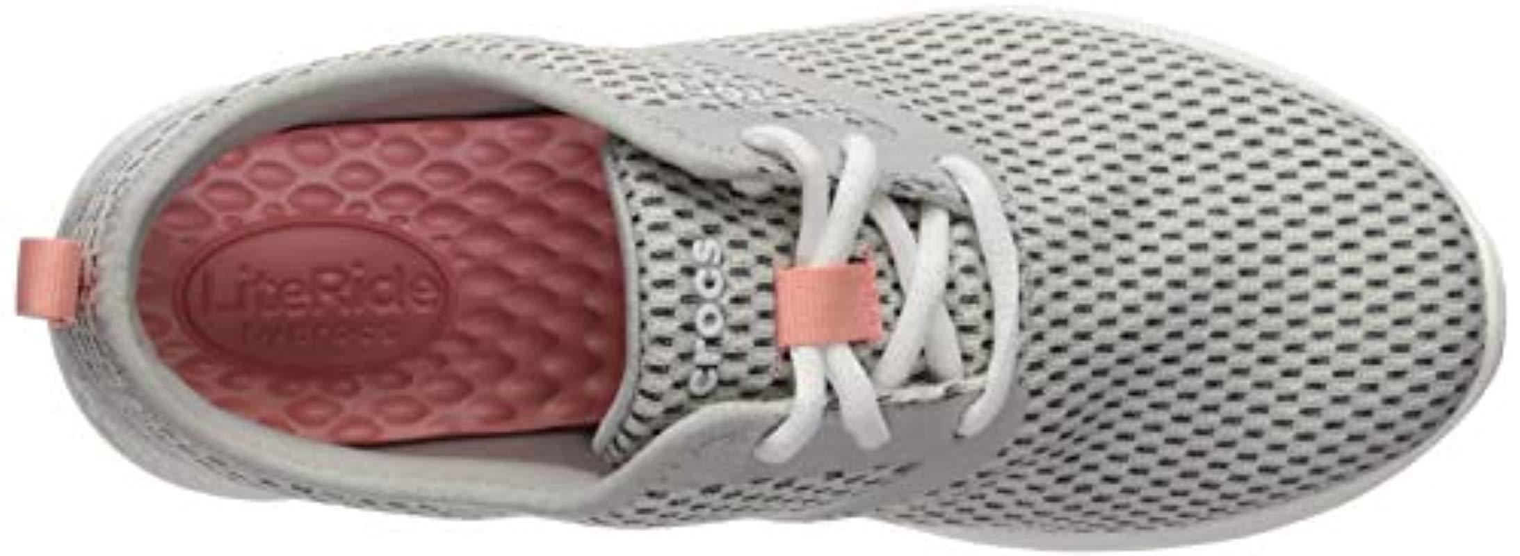 431b4795a24d Crocs™ - White Literide Mesh Lace - Lyst. View fullscreen