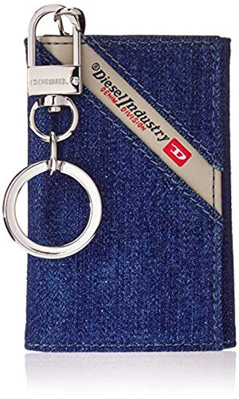 19553eecaba8 DIESEL Denimline Keycase O-key Holder in Blue for Men - Lyst