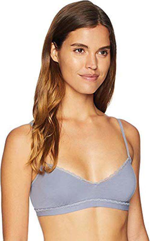 b26fa2638466b2 Cosabella. Women s Purple Soft Cotton V-neck Bralette