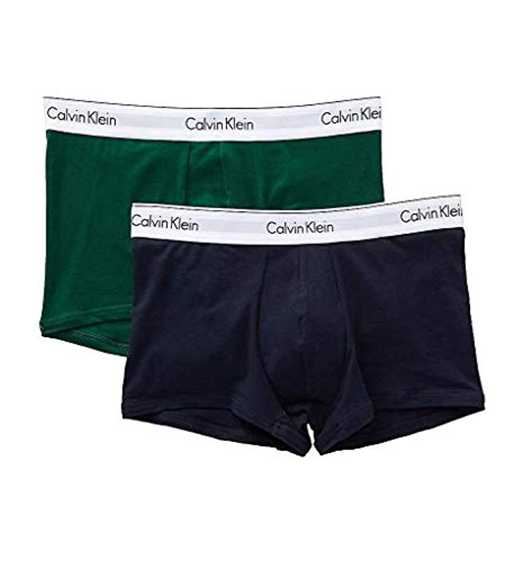 95941132d597 Calvin Klein - Blue Modern Cotton Stretch Trunks for Men - Lyst. View  fullscreen