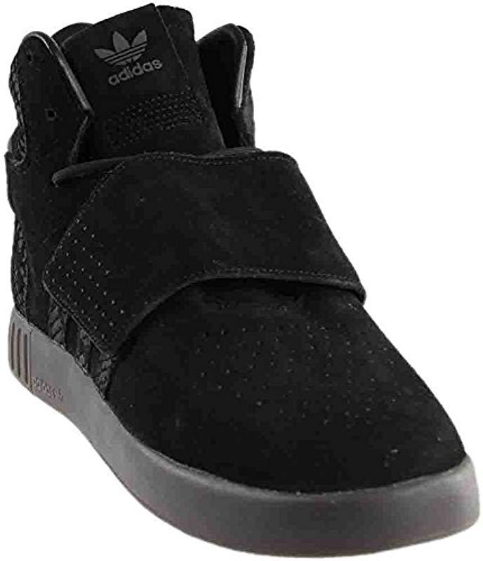 buy popular aa083 c0358 Lyst - Adidas Originals Tubular Invader Strap Shoes in Black ...
