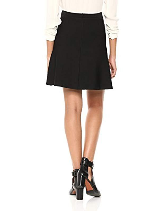 94aee1bc45 Lyst - Theory Short Flare Skirt in Black
