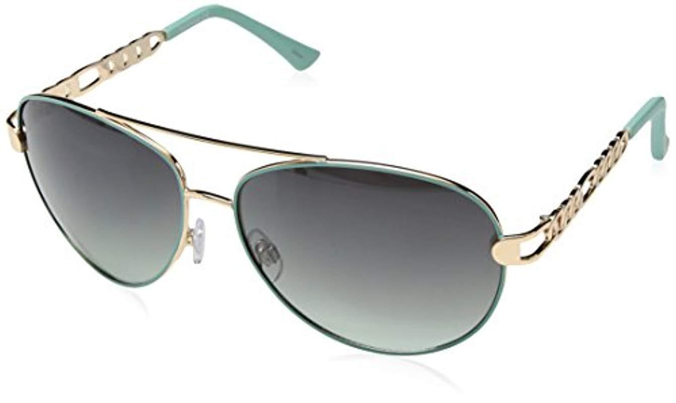 b92bb8fbd1c Sam Edelman. Women s Metallic Rocawear R566 Gldaq Aviator Sunglasses