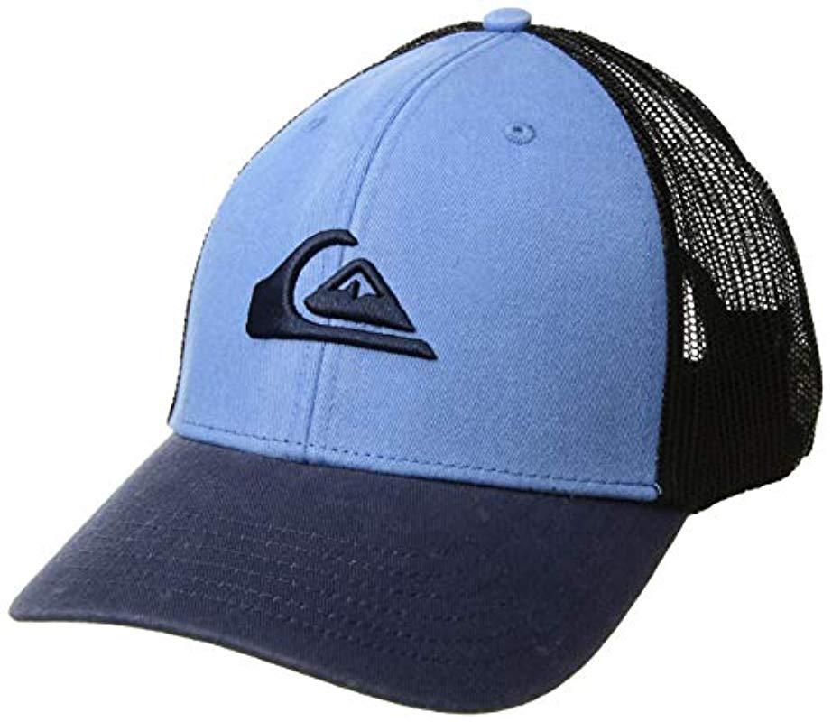 aa3d68afbe70c Lyst - Quiksilver Grounder Trucker Hat in Blue for Men
