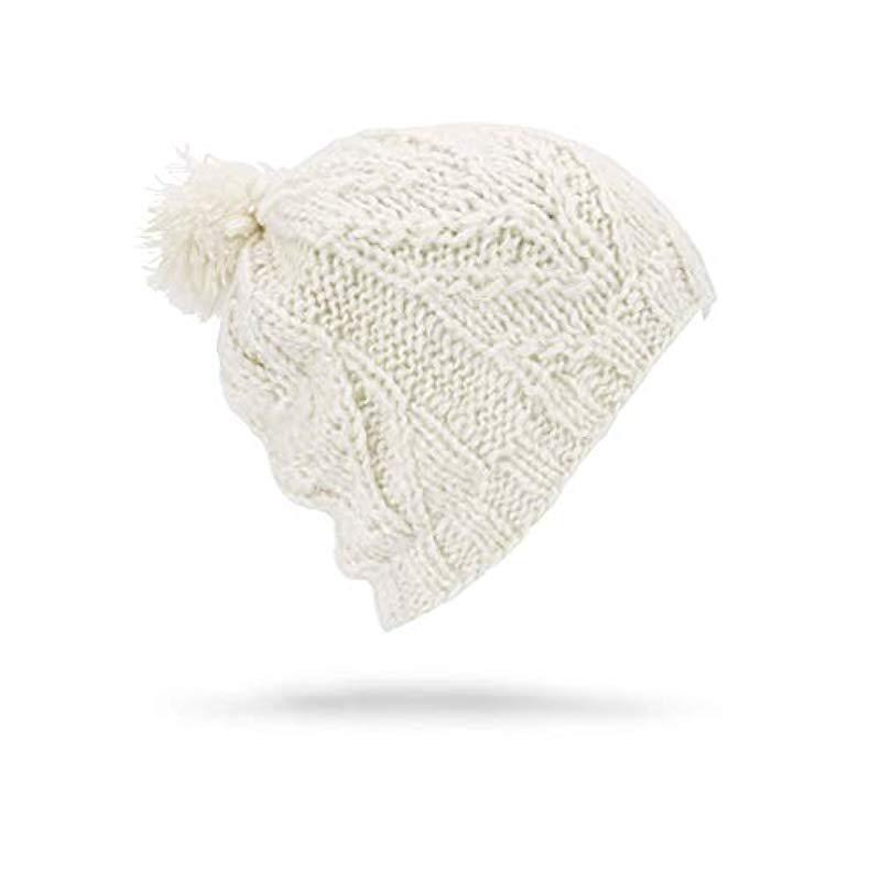 d4cfc1f2206 Lyst - Volcom Classic Fit Leaf Pattern Snow Beanie in White