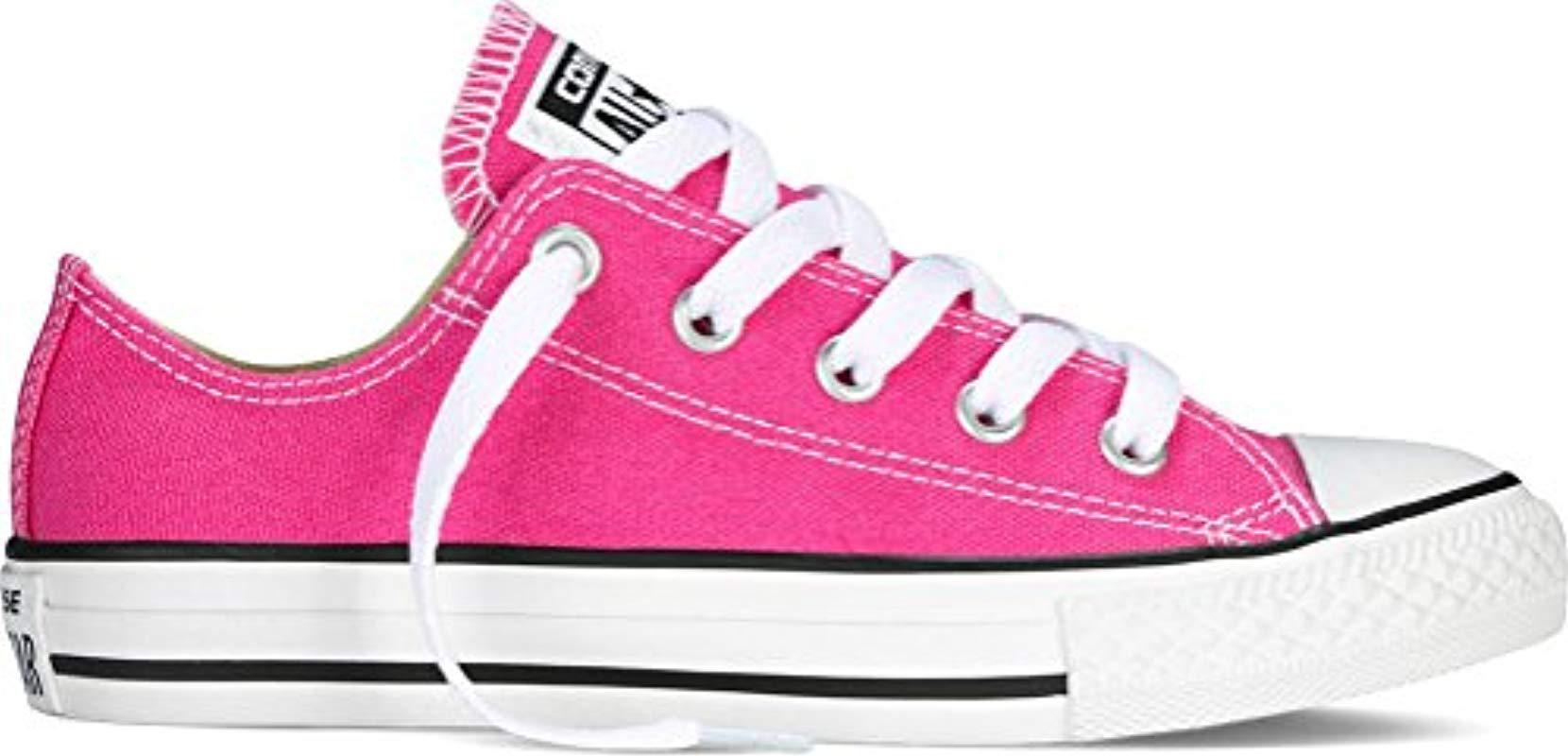 Lyst - Converse Chuck Taylor All Star Seasonal Colors Ox in Pink 45d7698aa