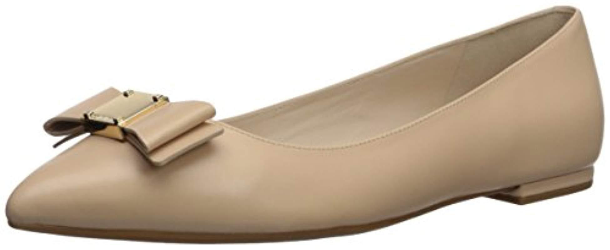 20b3b869d32 Lyst - Cole Haan Tali Bow Skimmer Ballet Flat in Natural - Save 59%