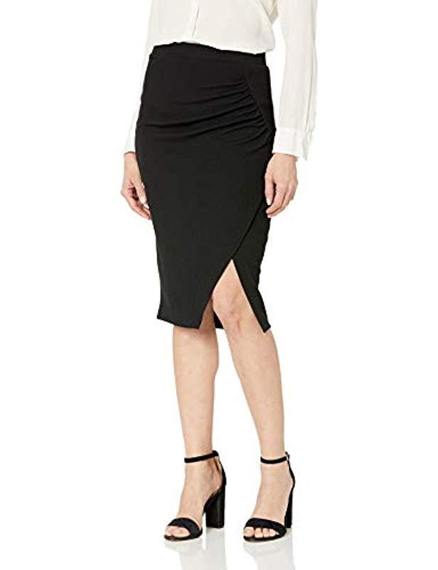 4c1188147 Lyst - Bcbgeneration Slit Knit Knee Skirt in Black