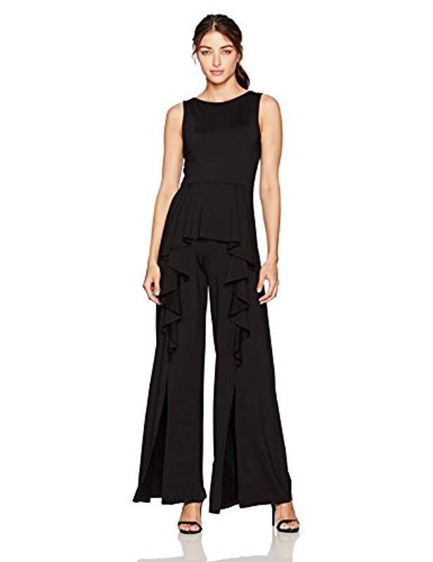 ae9438ea3047 Lyst - Susana Monaco Ellen Ruffled Jumpsuit in Black