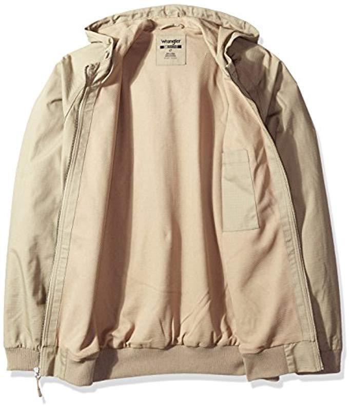 b2faba01 Wrangler - Natural RIGGS Workwear Big And Tall Workhorse Hooded Jacket for  Men - Lyst. View fullscreen