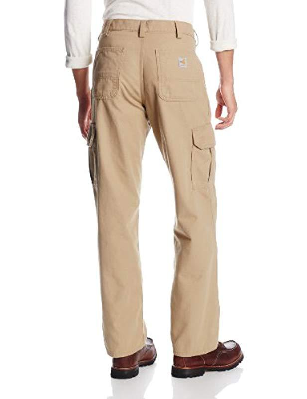 e424b3bcd910 Lyst - Carhartt Flame Resistant Cargo Pant in Natural for Men - Save 8%