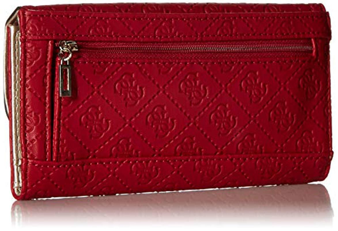 Guess - Red Lyra Multi Clutch Wallet - Lyst. View fullscreen f549d9ba5d