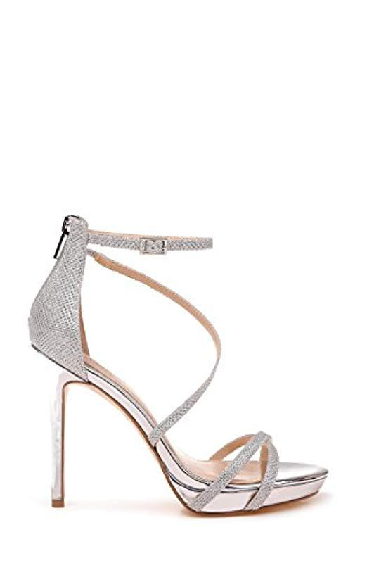 732b429930ea Lyst - Badgley Mischka Jewel Galen Heeled Sandal in Metallic - Save 21%