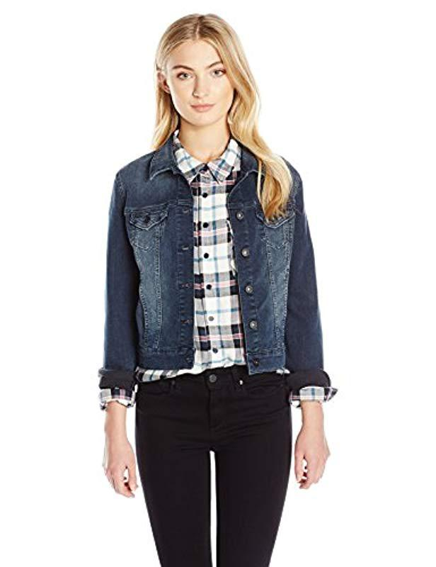 b770a5189e4 Lyst - Mavi Samantha Cropped Denim Jacket in Blue - Save 36%