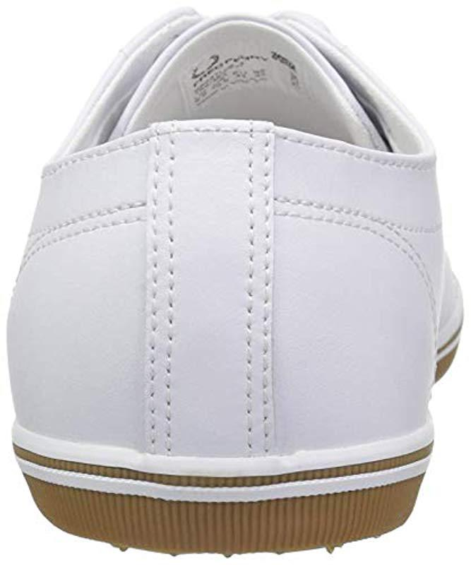0b5d0a57473a8 Lyst - Fred Perry Kingston Leather Sneaker in White for Men - Save 37%