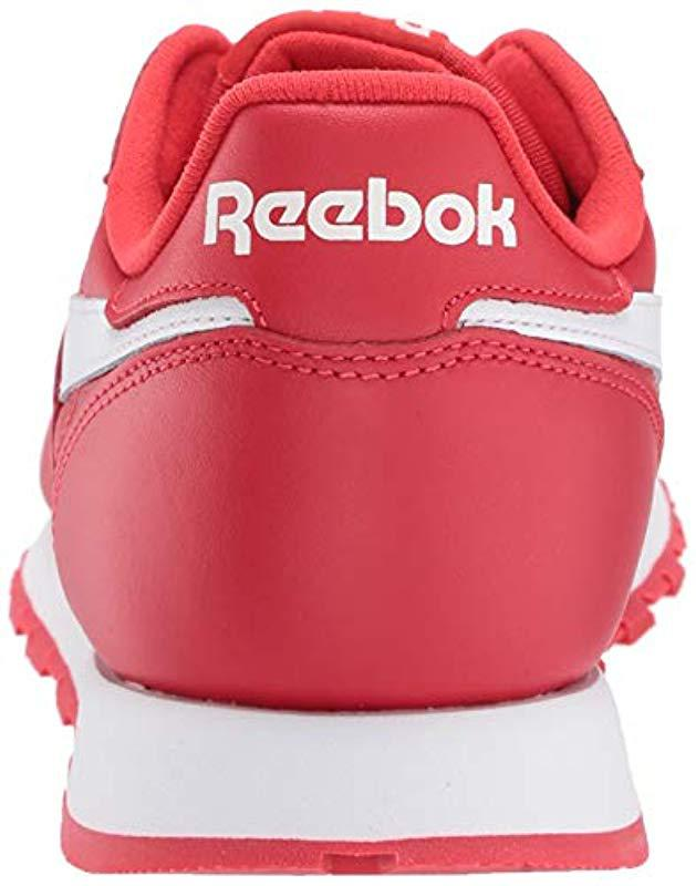 7f4d45a8eab Lyst - Reebok Classic Leather Sneaker in Red for Men