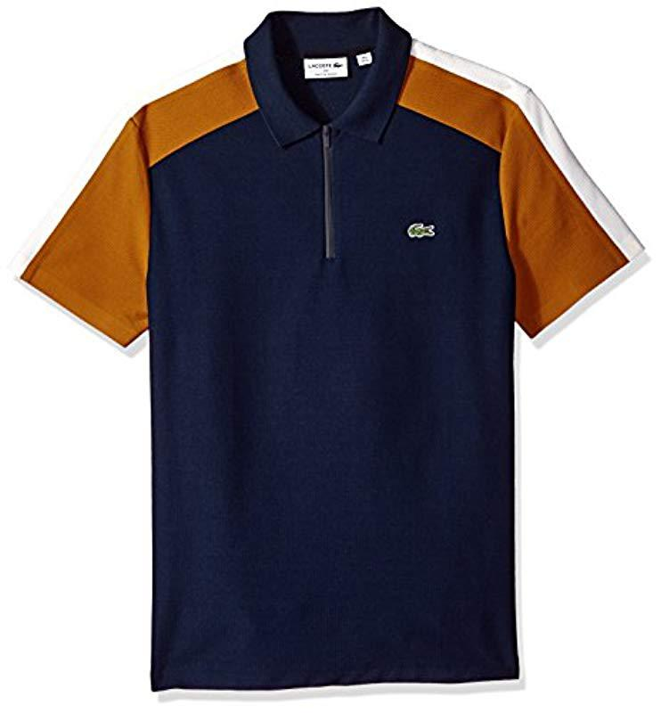 3fc979c9 Lyst - Lacoste Mif Short Sleeve Noppe Pique Polo-regular Fit in Blue ...
