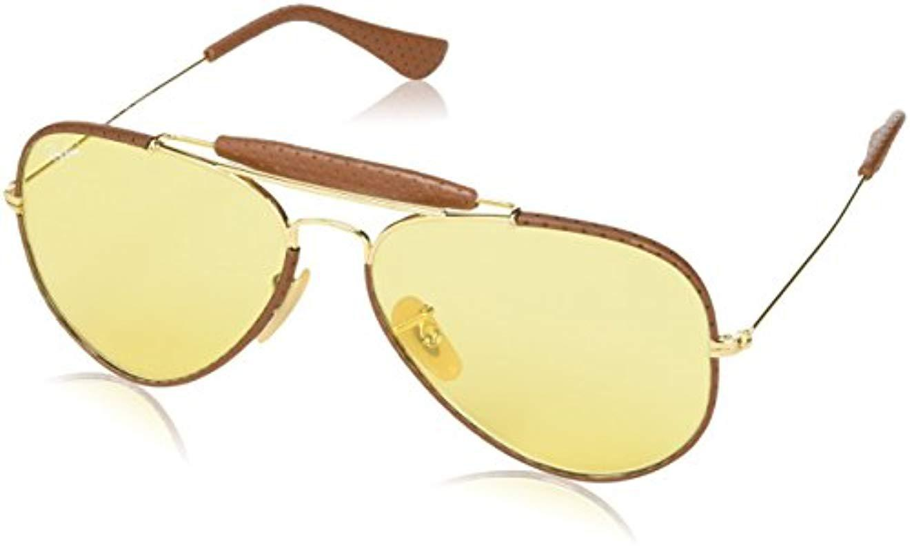 78930fa0abb Lyst - Ray-Ban Rb3422q Craft Outdoorsman Ii Aviator Sunglasses 58 Mm ...