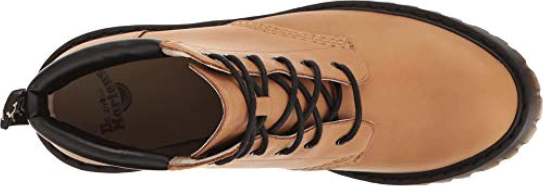 Dr. Martens Brown Persephone Tan San Diego & Black Srs Pu 22408220, Boots