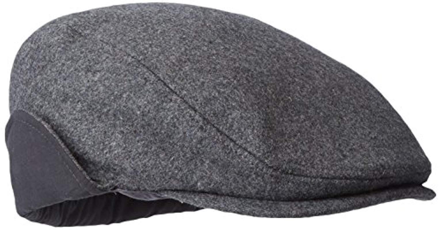9bde535bd904e Dockers - Gray Solid Melton Hat With Fold-down Ear Flaps for Men - Lyst.  View fullscreen