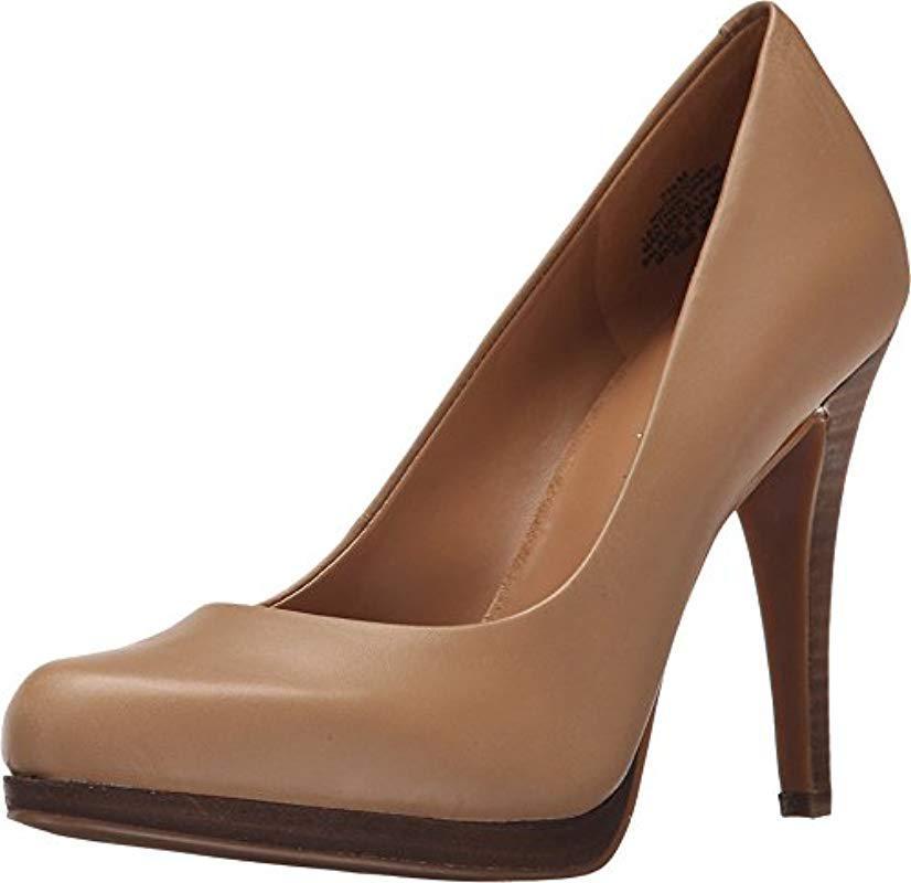 35efb275270 Lyst - Nine West Rocha Leather Dress Pump in Brown - Save 18%