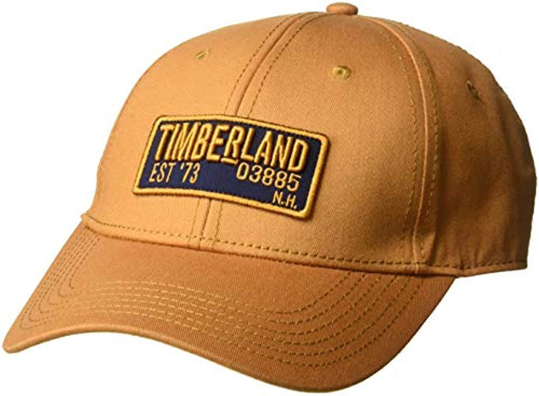 e41a831e198 Timberland - Multicolor Cotton Twill Baseball Cap