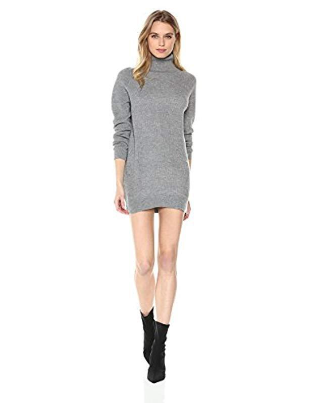e60ede9c5fa Michael Stars. Women s Gray Mixed Stitch Long Sleeve Cowl Neck Tunic Dress