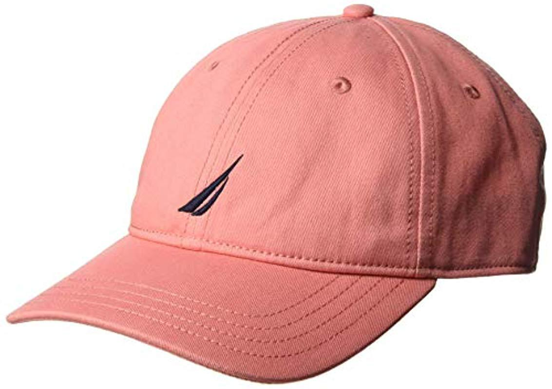 42d3fa1f2 Nautica J-class 6-panel Cap Hat in Pink for Men - Save 18% - Lyst