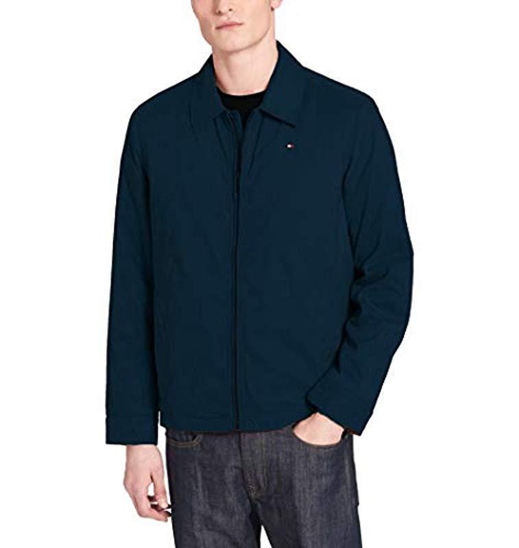 83545d7d Tommy Hilfiger. Men's Blue Size Tall Micro Twill Laydown Collar Golf Jacket