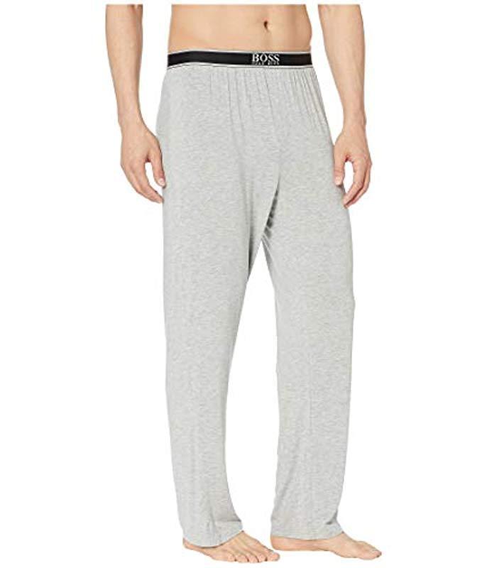 b3fe7d866 BOSS - Gray Micromodal Lounge Pant for Men - Lyst. View fullscreen
