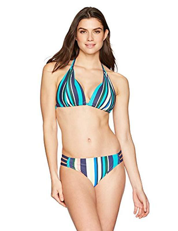 dad969e89e0564 Lyst - Coastal Blue Swimwear Triple Strap Bikini Bottom in Blue