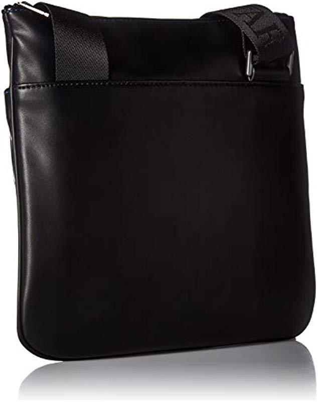 fb81661ccf5a Lyst - Emporio Armani Messenger Bag With Front Pocket in Black for Men
