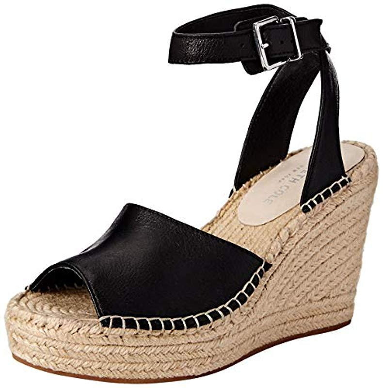 523eb9377021 Lyst - Kenneth Cole Olivia Two Piece Espadrille Wedge Sandal in Black