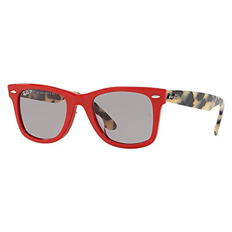 29c314a3738ce ... cheap ray ban. mens wayfarer polarized square sunglasses red dcca4 9dd2a