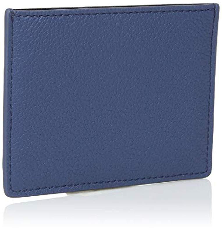 Emporio Armani - Blue Designer Leather Cardholder - Lyst. View fullscreen 4f6c092371