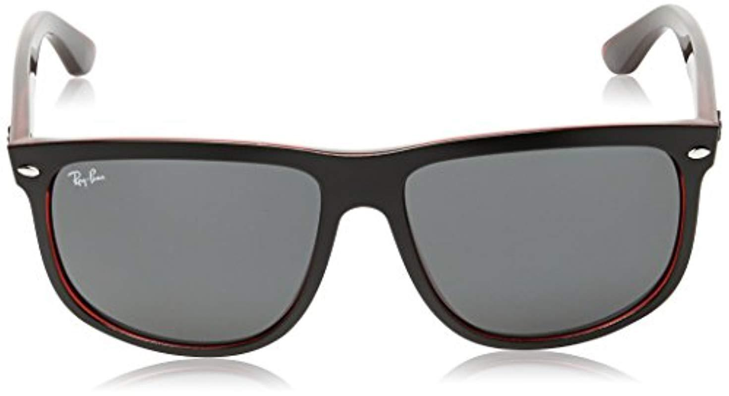 5914caa25f6 Lyst - Ray-Ban Rb4147 - Black On Red Frame Dark Grey Lenses 60mm Non ...